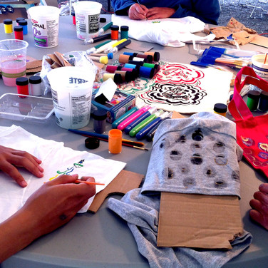 """CLOTHING AS A CANVAS"" WORKSHOP INSTRUCTOR AT JUNCTION JAM, CRAFT WORKSHOP WEEKEND, HAINES JUNCTION, YT AUG 12 - AUG 14 2016"