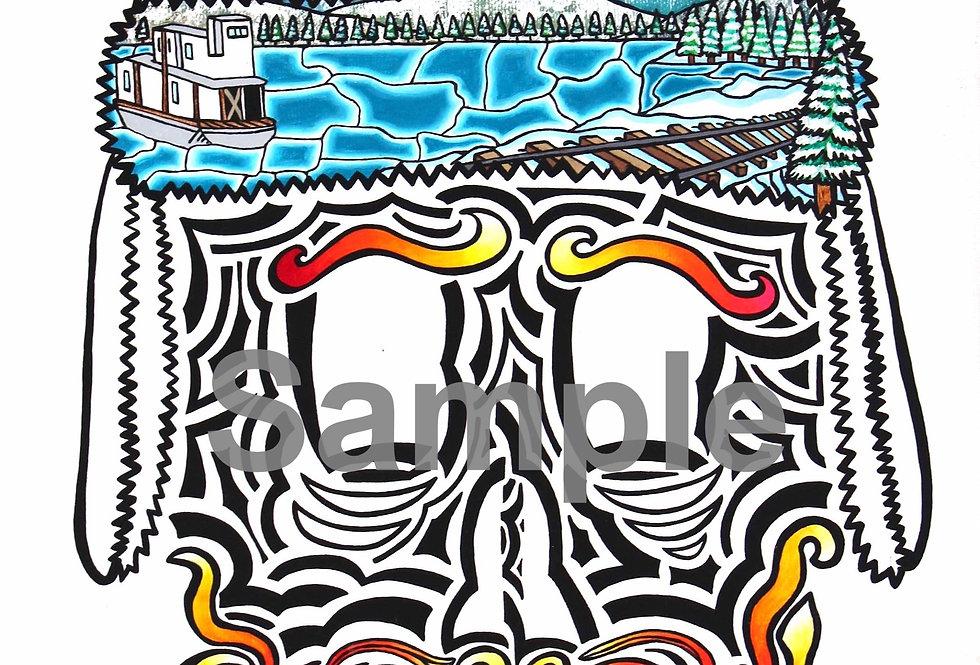 Sam McGee Skull - Art Print