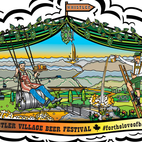 Whistler Village Beer Festival Art