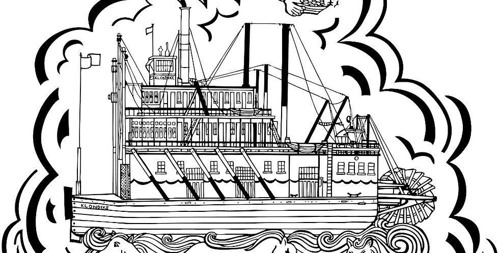 SS Klondike Gold Panner - Canvas Print