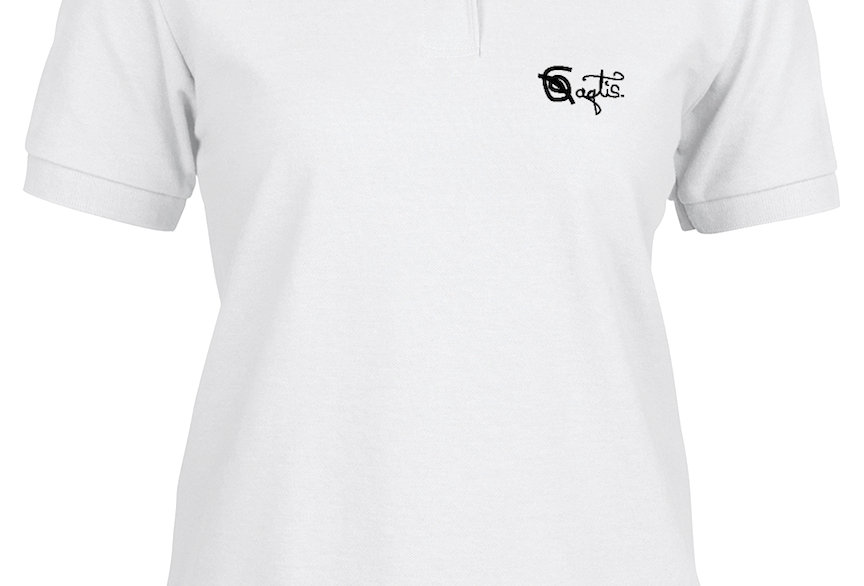 Womens Custom Polo - White