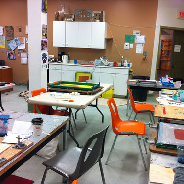 YOUTH ART ENRICHMENT PROGRAM, SCREEN PRINTING CLASS INSTRUCTOR AT KIAC, DAWSON CITY, YT  NOV 2 - 5 2016
