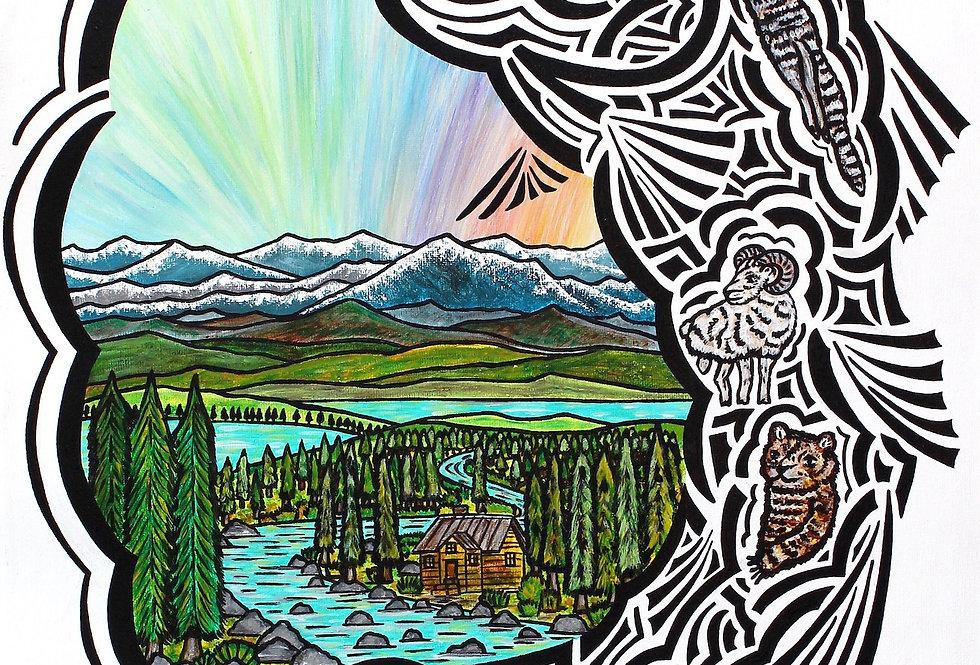 Salmonscape - Art Print