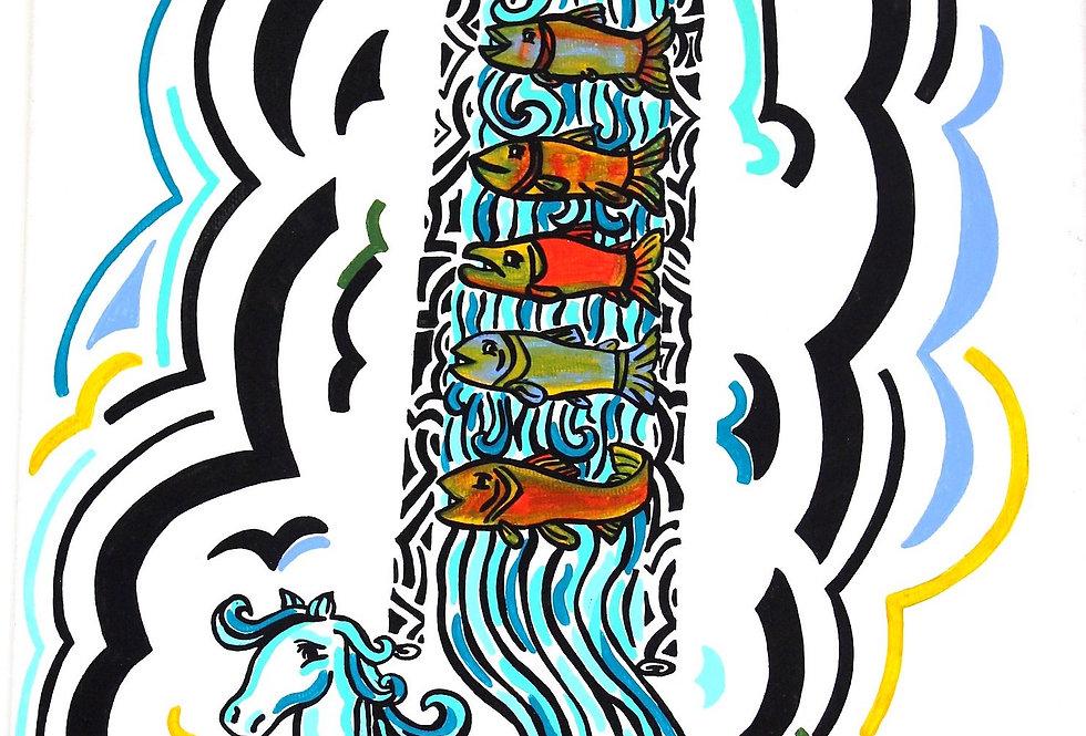 Fish Ladder - Art Print