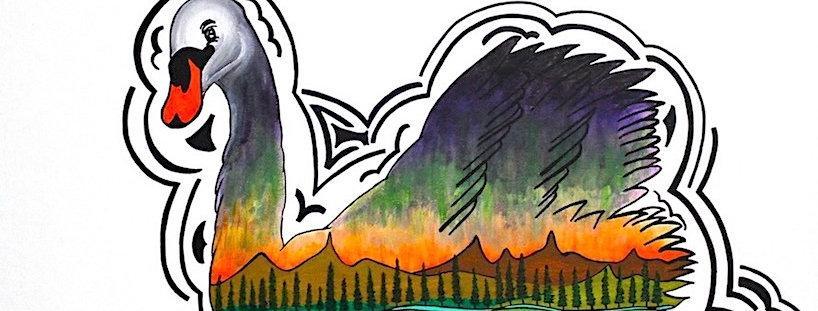 A Celebration of Swans - Art Print