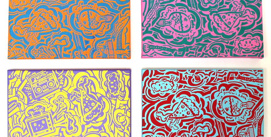 Custom All-Over Print Painting/Screen Print