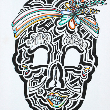 Can Can Dancer Skull