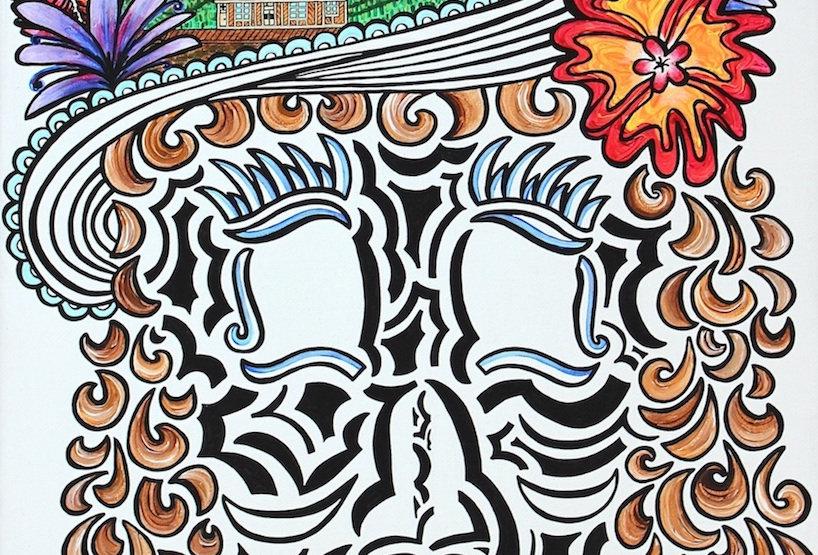 Klondike Kate Skull - Art Print