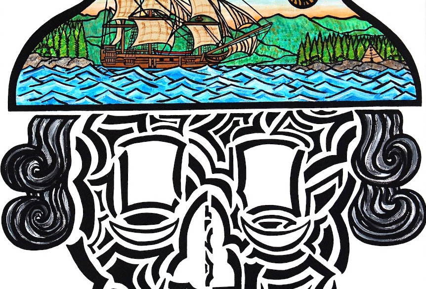 George Vancouver Skull - Art Print