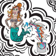 Paint Can Mermaid