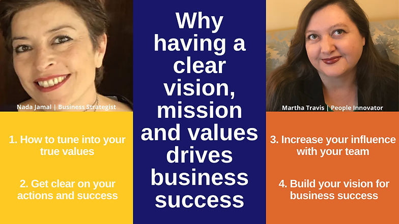 Why having a clear vision, mission and v