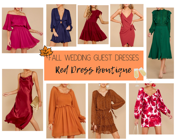Fall Wedding Guest Outfit Ideas | Red Dress Boutique