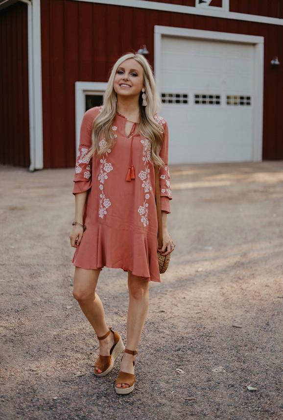 Francescas Floral Shift Dress