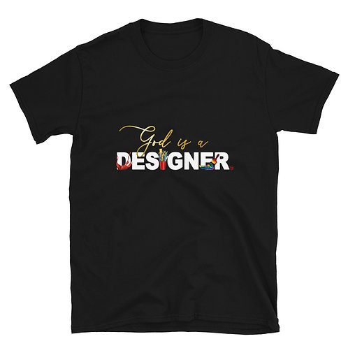 God is a designer T-Shirt Black