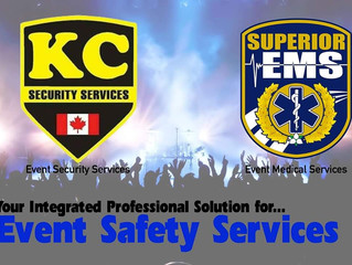 Pleased to announce our partnership on event security services with Superior EMS!
