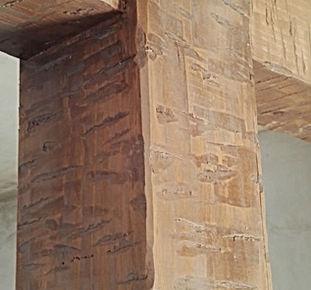 viga hueca de madera navaja de pastor