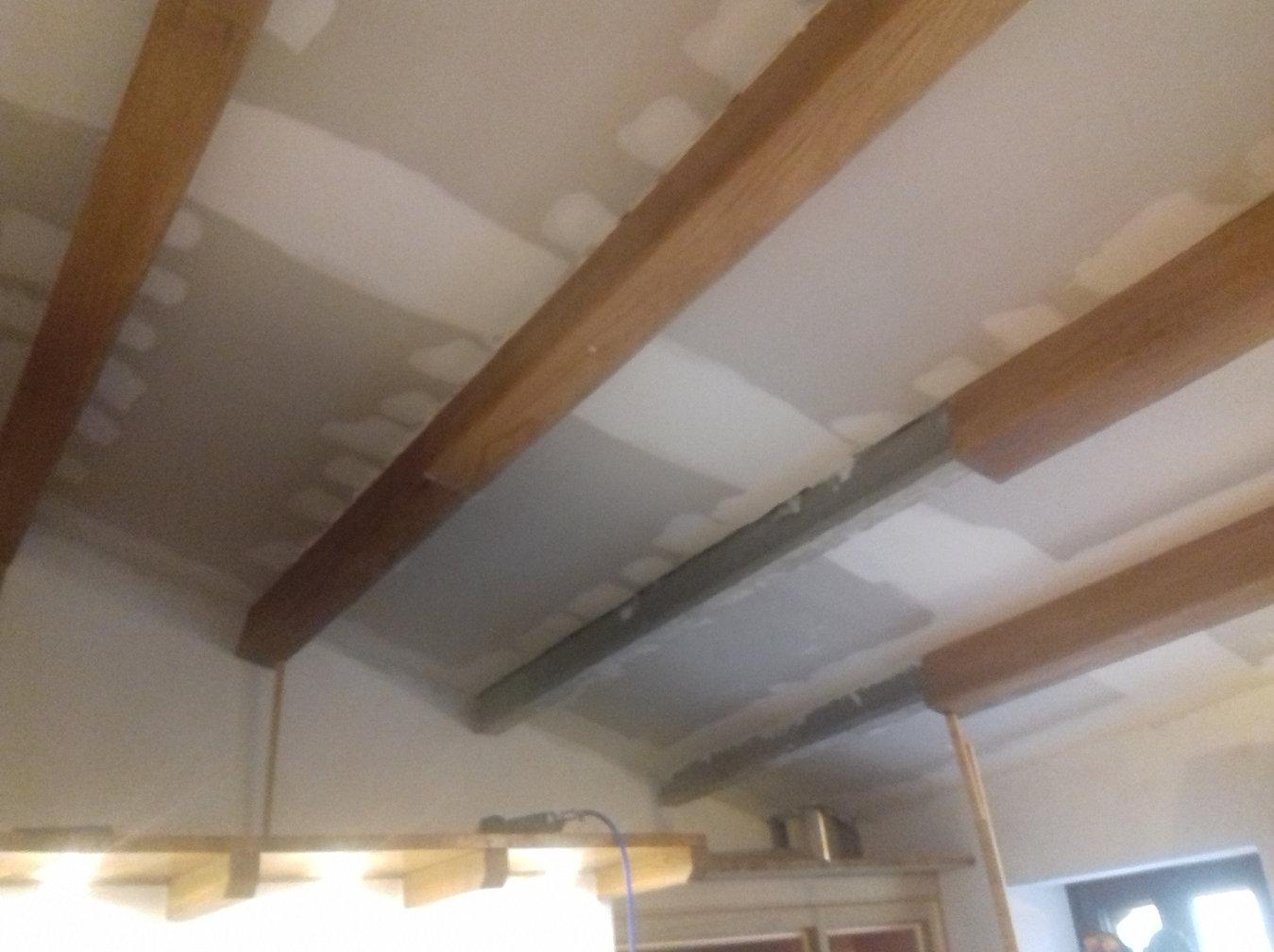 Vigas huecas madera vigas decorativas para revestir techos - Vigas falsas de madera ...
