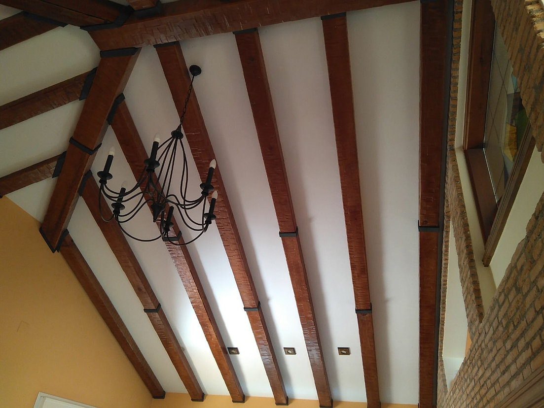 Vigas huecas madera revestimiento madera para vigas - Vigas decorativas ...