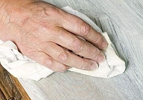 Vigas huecas de madera, blancas efecto tiza