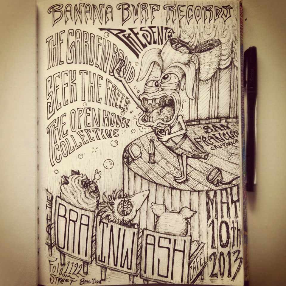 Banana Burp Records Poster