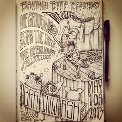 Banana Burp Records Poster