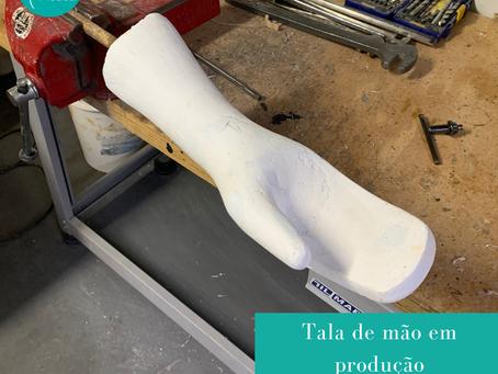 Tala de mão em produção