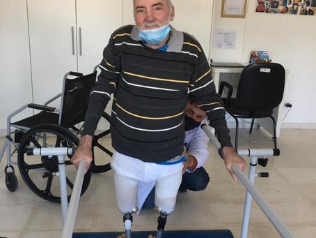 Mais uma prótese pronta entregue para o Carlos!