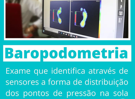 Exame da Baropodometria