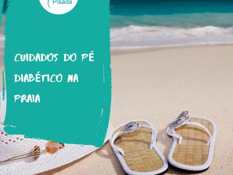 Vc sabe quais cuidados se deve ter com o pé diabético ao ir a praia?