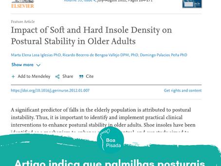 Artigo indica que palmilhas posturais reduz o risco de quedas em idosos
