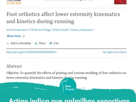 Artigo indica que palmilhas esportivas diminuem o gasto energético nas práticas esportivas