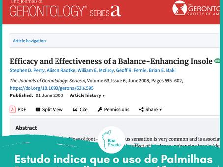 Artigo indica melhora no equilíbrio com uso de palmilhas posturais