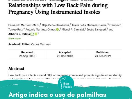 Palmilhas posturais ajudam a diminuir as dores nas costas de grávidas