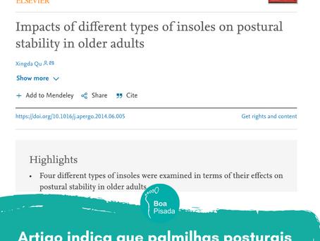 Artigo indica que palmilhas posturais melhoram a postura e equilíbrio em idosos.