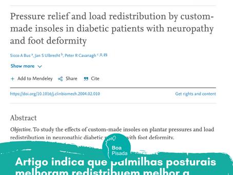 Artigo indica que palmilhas posturais melhoram redistribuem melhor a carga nos pés, trazendo benefic
