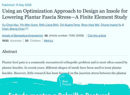 Artigo demonstra diminuição na fascite plantar após o uso de Palmilhas Posturais