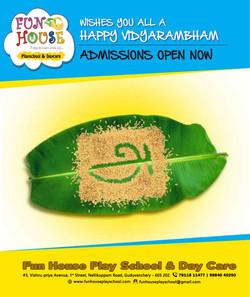 Admission Opens for Vidyarambam