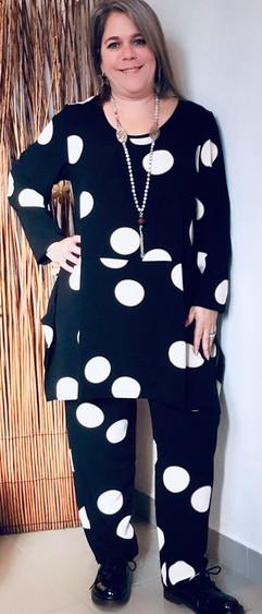 pantalon-tunique-motif gros pois-g'oze.j