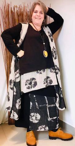 robe-motif fleurs-g'oze-manteau-motifs f