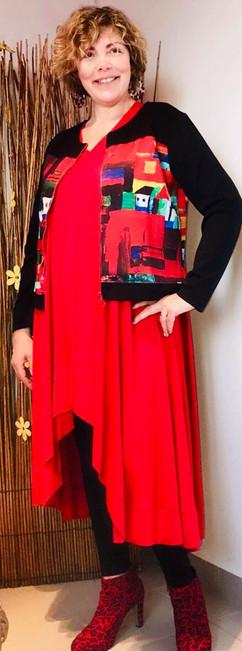 tunique-longue-rouge-mat fashion-blouson