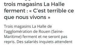 Dans l'agglo de Rouen, 3 magasins la Halle ferment