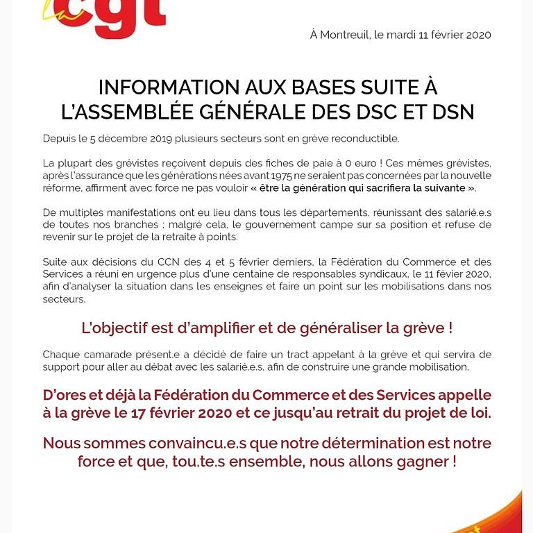 AG des DS et DSC