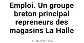 Un groupe breton principal repreneurs des magasins La Halle
