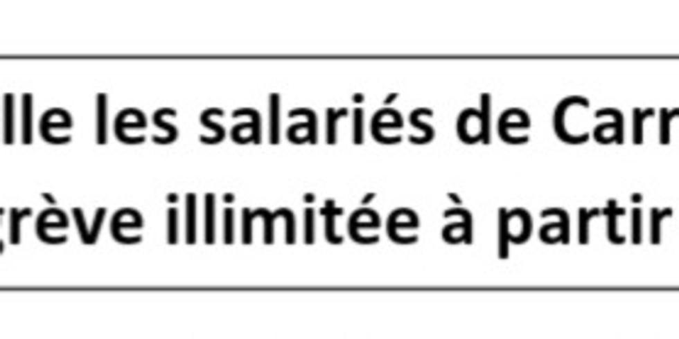 Appel à une grève illimité chez Carrefour