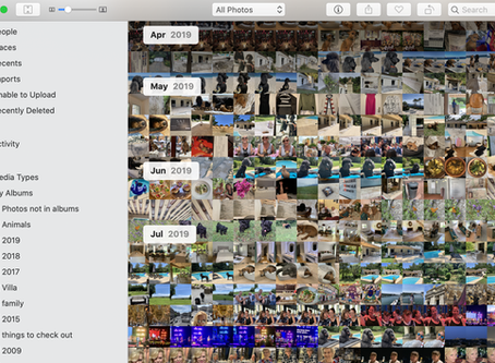Photo sorting - filing the five thousand......
