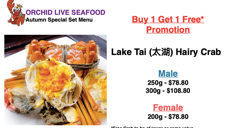 Hairy Crabs Promotion