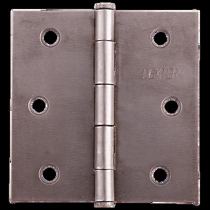 "BISAGRAS DEXTER 3""X3"" 1.6mm MOD:C/PLANA GALV C/T B 2"