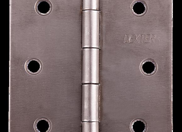 """(DES) BISAGRA DEXTER 3""""X3"""" 1.6mm MOD:C/PLANA GALV C/T B 2"""