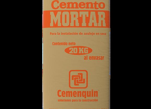 CEMENTO MORTAR GRIS CEMENQUIN 20KG