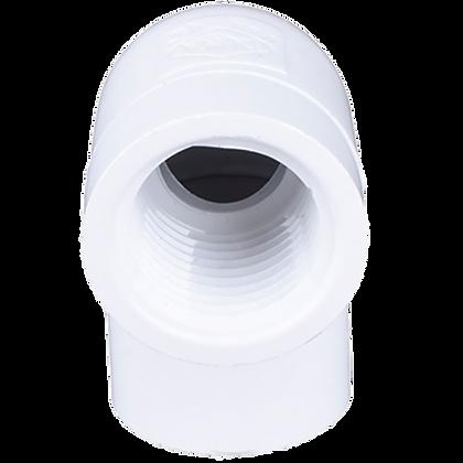 CODO CONECTOR HEMBRA 1 LADO PVC 1/2 X 90
